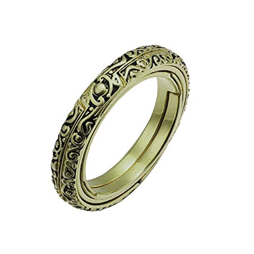 Twinsmall Astronomical Finger Foldable Ring, Sphere Ball Ring Cosmic Ring Vintage Jewelry Wedding Gift for Lover (Army Green) ()