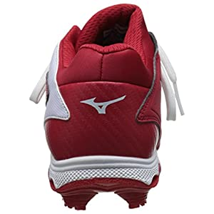 Mizuno Women's 9 Spike ADV Finch Elite 2 Fast Pitch Molded Softball Cleat, Red/White, 10 M US