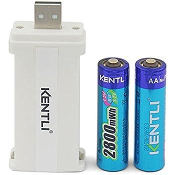 Amazon.com: KENTLI Lithium Li-ion Rechargeable 4 AAA