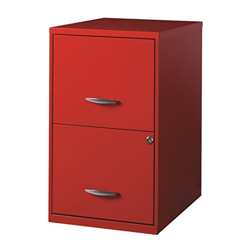 Hirsh Space Solutions 18'' Deep 2 Drawer Smart File Cabinet in Red by Hirsh Industries