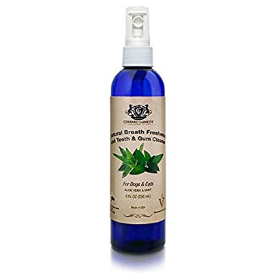 Natural Breath Freshener and Teeth and Gum Cleaner for Dogs and Cats, Pet Oral Care Spray