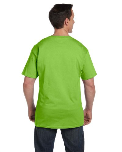 Hanes Beefy-T Adult Pocket T-Shirt, Lime, 2XL
