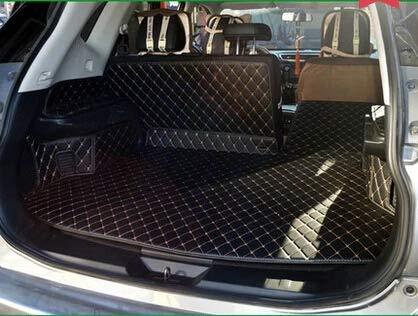 Exclusive Kofferraummatte Passend Für Nissan X-TRAIL Leder Schwarz Faden Beige