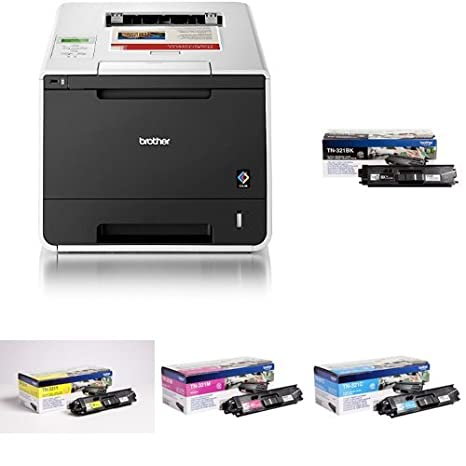 Brother HL-L8250CDN - Impresora láser color + Pack de 4 tóners TN321