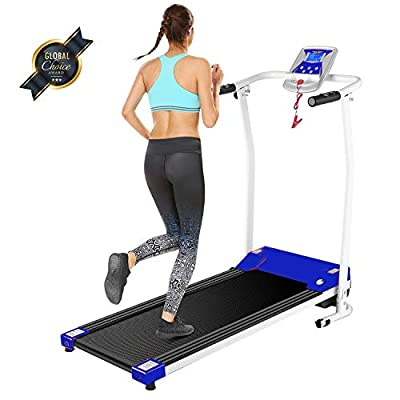 OppsDecor Folding Treadmill for Home,Electric Treadmills with LCD Display Exercise Fitness Trainer Walking Running Machine