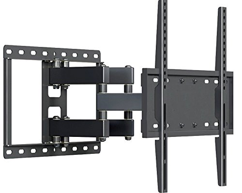 "Full Motion TV Wall Mount Fits most 32"" – 55"" Inch LED LCD Plasma Dual-Arm Articulating TV Bracket UP To VESA 400X400 and 99 lbs weight by Husky Mounts"