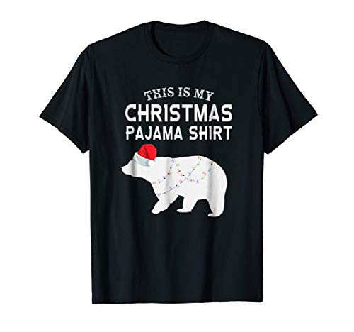 Papa Bear Flannel - This is My Christmas Pajama Shirt Polar Bear Funny T-shirt