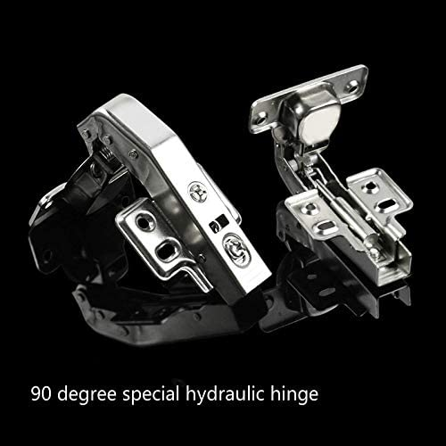 Door Cabinet Hinge Damping Mute Buffer Hinge Inside 90 Degree with Hydraulic Opening Angle Spcial Hinge 1pc//Set