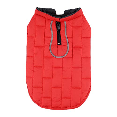 Chaoguang Outdoor Winter Waterproof Dog Coat Jacket Windproof Reversible Cold Weather Adjustable Vest Snowsuit Apparel for Small Medium Larger Dogs