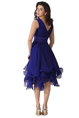 Grape Bridal The of Dora Neck V Mother Bride Dresses Chiffon FxPfOZnqf