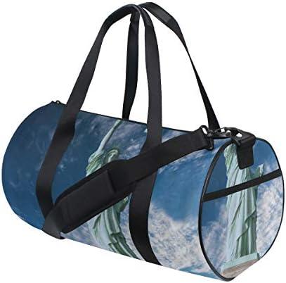 ZOMOY Sporttasche,Abstraktes symmetrisches Muster mit geometrischen Elementen im rosa Farbton,Neue Bedruckte Eimer Sporttasche Fitness Taschen Reisetasche Gepäck Leinwand Handtasche
