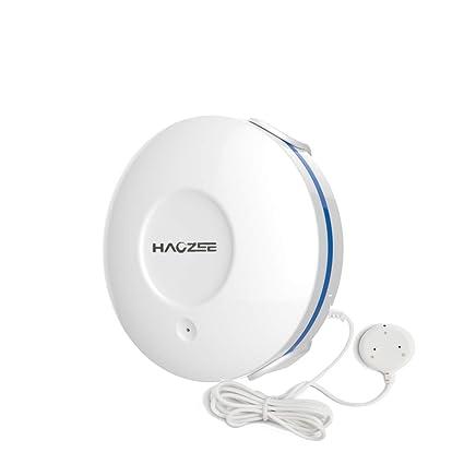 Sensor de Agua HAOZEE Z Wave Plus, sonda remota, Resistente al Agua, Sensor