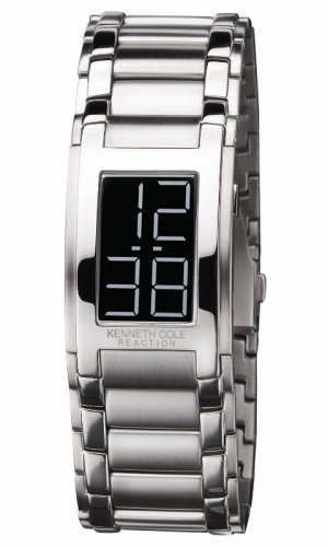 Kenneth Cole Men's KC3576 Reaction Black Dial Silver-Tone Bracelet Watch -
