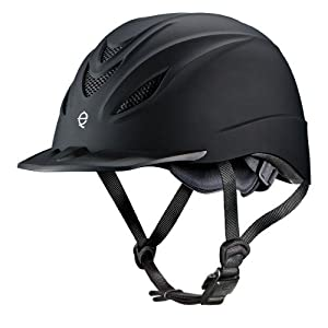 Troxel English Intrepid Helmet - SureFit Pro, Duratec Finish, Mesh Vents - Black