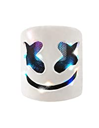 Affordable Marshmello Helmet,DJ Marshmello Mask Fo Kids& Adult,Latex/Marshmallow Mask for Fans Meeting,Music, Party, Halloween and More