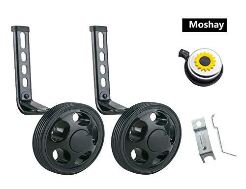 MOSHAY Training Wheels for Children's Bicycle stabiliser(for 14 16 18 20 inch Bike) (Black)