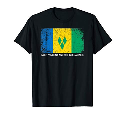Flag Vintage Made In Saint Vincent and the Grenadines T-Shirt