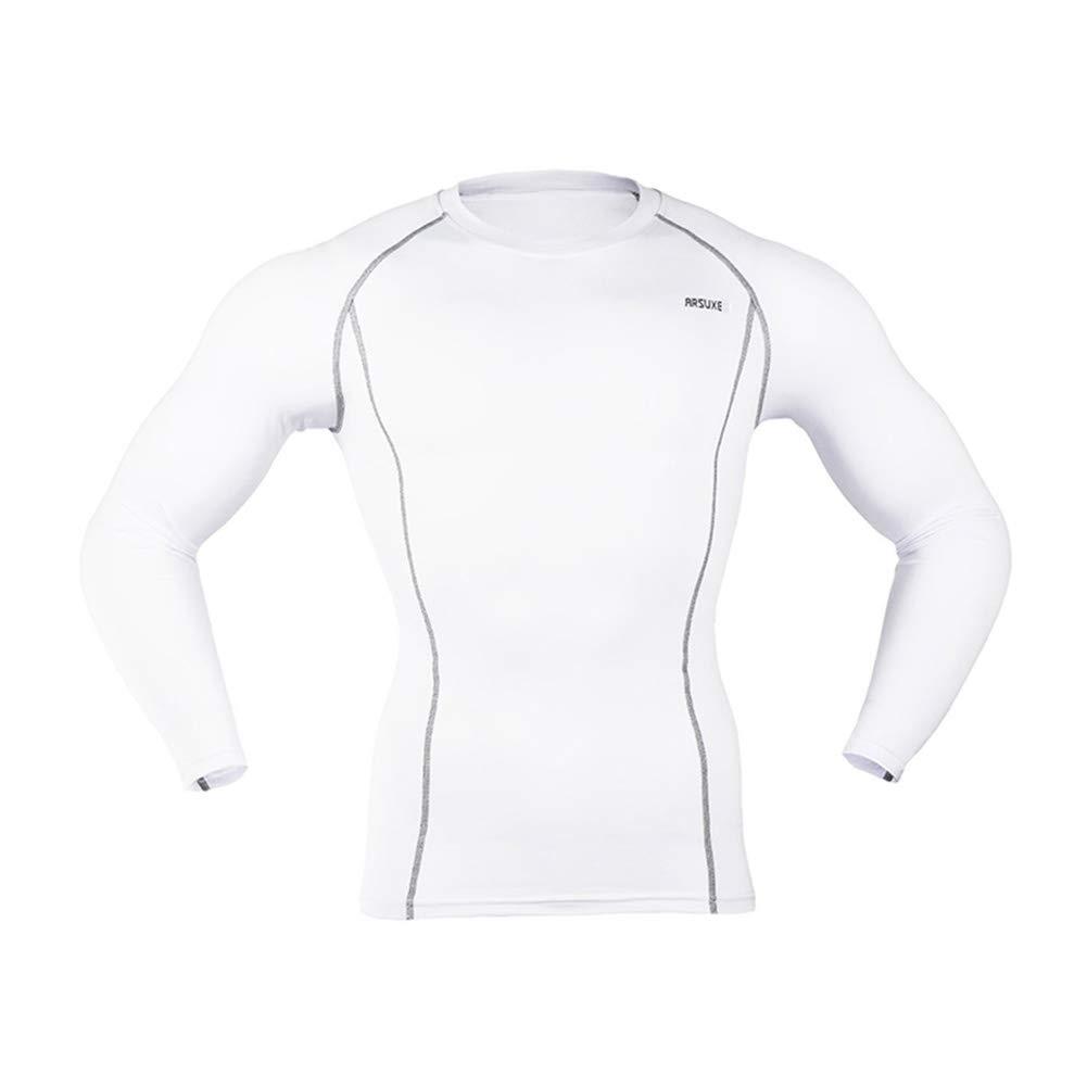 ZXCV Herren Compression Tights Base Layer Lauf Langen Ärmeln Shirts Trainings-Turnhallen-T-Shirts Kleidung