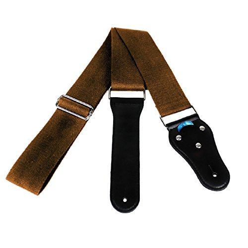 Acoustic Guitar Strap - Soft Cotton no Slide During Playing and Cut Into Your Body Like Nylon - Wide Adjustment Range and Secure Leather Holes-Suitable for All Ages - Classical Design (Acoustic Fender Straps Guitar)
