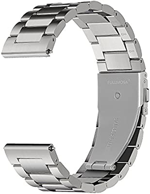 Fullmosa 3 Colores para Correa Metálica de Reloj de Liberación Rápida, Pulsera Reloj de Acero Inoxidable 14mm 16mm 18mm 19mm 20mm 22mm 24mm