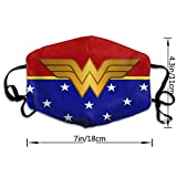 Wonder-Woman Face Madk Washable Polyester Mouth