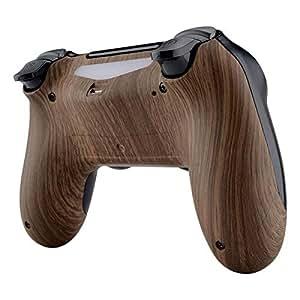 eXtremeRate Carcasa Trasera para Mando PS4 Funda Posterior Cubierta Protectora Antideslizante Shell Placa Accesorios para Mando del PS4 Slim Pro con ...