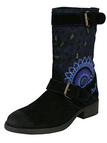 DESIGUAL Damen Designer Top Stiefel Biker Boots Schuhe - TWO -
