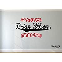 Custom Baseball Name Wall Decal Kids Personalized Bedroom Boys Room Wall Decor