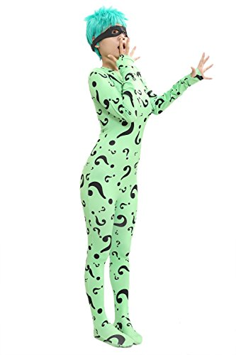 XCOSER Question Mark Pattern Zentai Bodysuit Jumpsuit Costume S