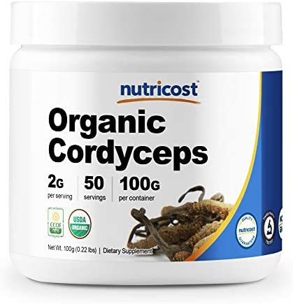 Nutricost Organic Cordyceps Powder 100 Grams – USDA Certified Organic, Non-GMO, Gluten Free