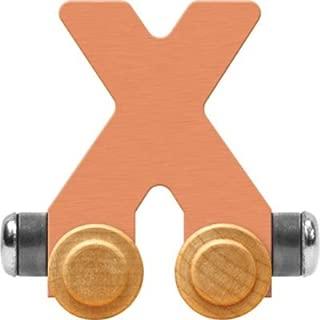 product image for Maple Landmark NameTrain Pastel Letter Car X - Made in USA (Orange)