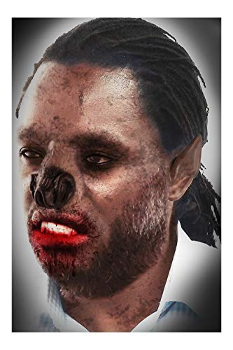 Faux Studio Werewolf Nose and Ears Set Latex Prosthetic Appliance. -