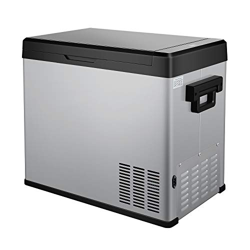 54 Quart Portable RV Refrigerator/Freezer Compact Vehicle Car Fridge Compressor Electric Cooler for Car,Truck,RV,Boat,Outdoor and Home use 12/24V DC and 90-250 AC,Cooling from 68°F to -13°F