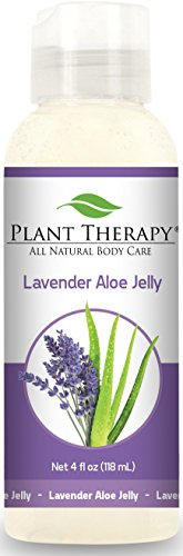 Plant Therapy Lavender Aloe Aromatherapy Jelly 4 oz, Made with 100% Pure Lavender Essential Oil - Aroma Vera Lavender Essential Oil