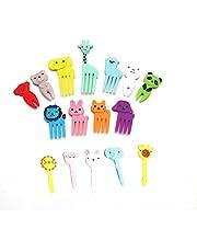Animal Food Picks for Kids,Toddler Food Picks,Cute Bento Picks for Kids,Fun Kids Food Picks for Bento Box Toothpicks,Reusable Lunch Picks for Kids Bento (10 pcs Random Style)