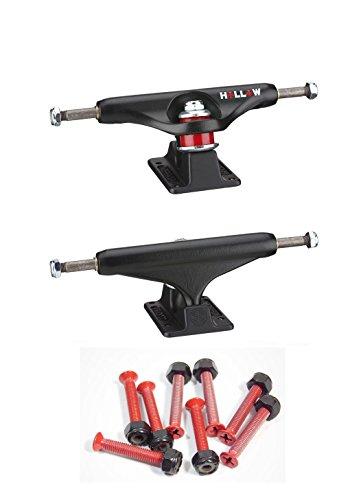 最悪導入する治すIndependent 139 Hallowマットブラックスケートボードトラック1」レッドハードウェア