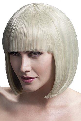 Fever Women's Sleek Blonde Bob with Bangs, 13inch, One Size, Elise,5020570425633 (Blonde Elise Adult Wig)