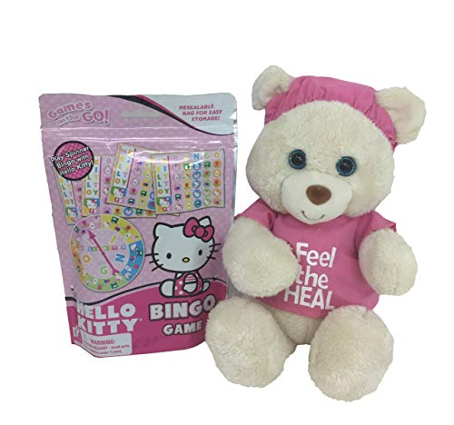 Red's Toy Shop Feel The Heal Pink 11 Inch Bear with Bingo Game