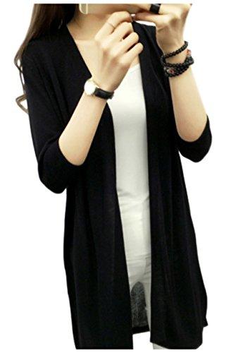 [エムズ モア] スタイルアップ ロング カーディガン ゆったり 冷房 紫外線 対策 6色展開 M~XL