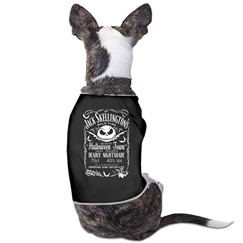 Jacober Nightmare Before Xmas Pumkin King Distollery Halloween Dog Shirt Clothes Suit for Pet Puppy Tee Shirts Dogs Costumes Cat Tank Top Vest ()