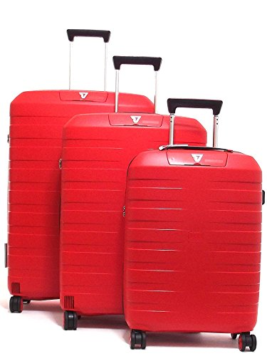 Roncato set tre trolley viaggio, Box 5510-0118 trolley cabina+trolley medio+trolley grande rigidi in polipropilene, colore arancio