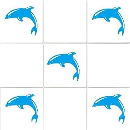vinylworld 'delfini' bagno piastrelle adesivi sticker set X36(olimpico blu) 290829090469