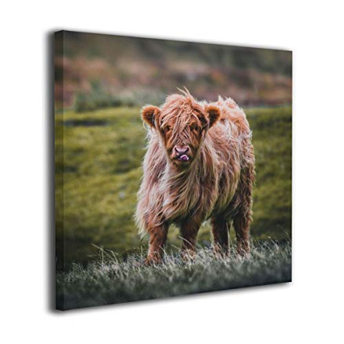 LxeSer Wildlife Cow Front Face Wall Painting Prints Wall Decor Printed For Living Room Office 16