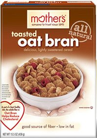Mothers Toasted Oat Bran Cereal, 12.5 ounce each -- 12 per case.