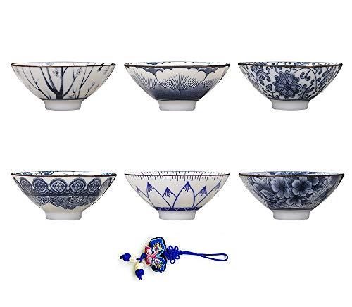 - ZHAMS Kungfu Teacup,Chinese Long-Quan Celadon Teacup,Set of 6