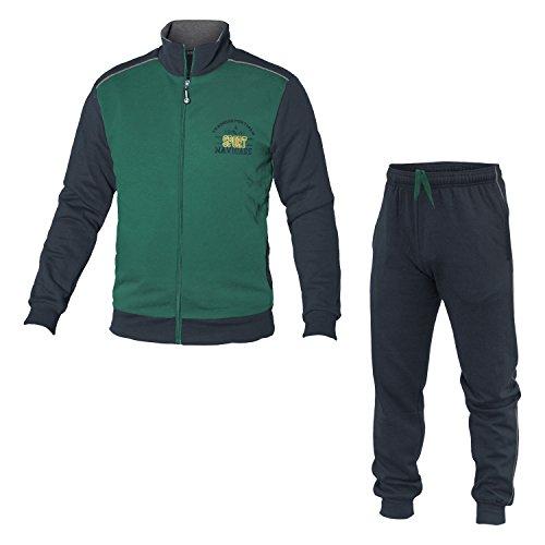 Tuta Zip Verdone Art Felpato Sportswear 28251 Navigare Cotone 2 Uomo Colori Full H8Pw4