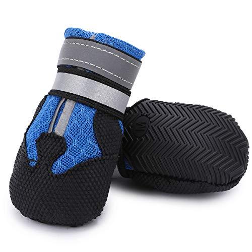 Ulandago Breathable Mesh Dog Boots Nonslip Soft Sole for Medium Large Dogs (Dog Booties Hardwood Floors)