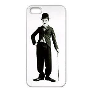 Charles Chaplin iPhone5s Cell Phone Case White Exquisite designs Phone Case KM47H245