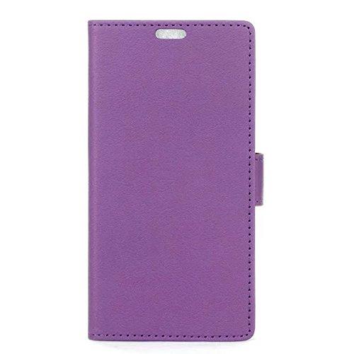 EKINHUI Case Cover IPhone 7 Plus Fall, feste Farbe Kas-Beschaffenheits-Muster-Leder-schützender Abdeckungs-Fall-horizontaler Schlag-Standplatz-Fall mit Karten-Schlitzen für iPhone 7 Plus ( Color : Pur
