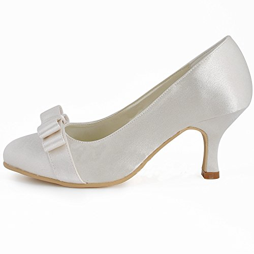 Ivory 6 Chaussures Minitoo Tendance Femme Heel Mariage De 5cm wxHqXdXY